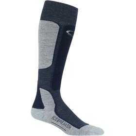 Icebreaker Ski+ Light OTC Socks Men fathom heather-midnight navy-blizzard heather